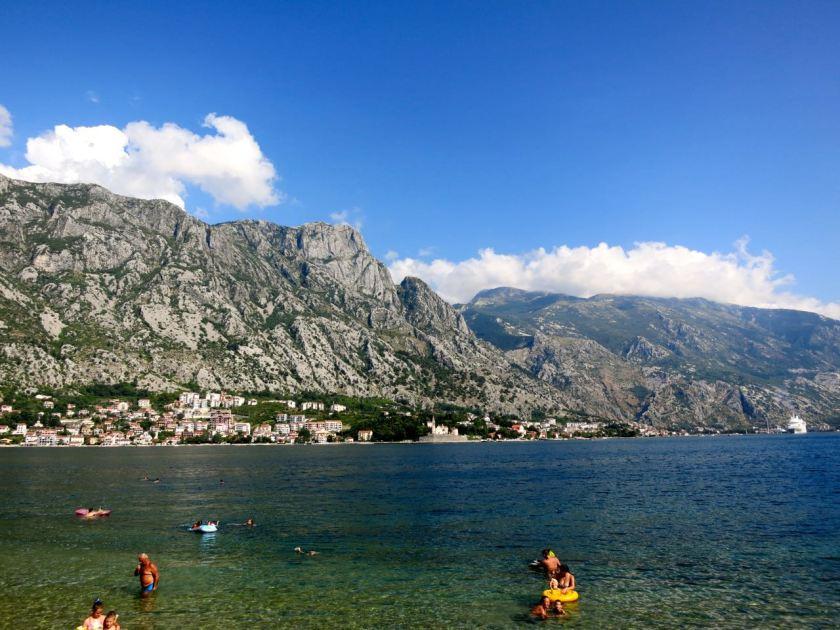 Auf dem Weg von Tivat nach Kotor