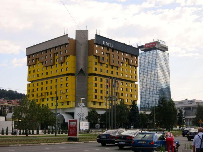Holiday Inn Hotel, aus dem die ersten Schüsse des Bürgerkriegs fielen