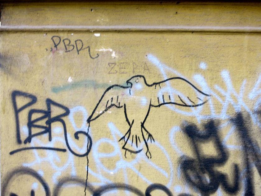 Sarajevo Taube Graffiti