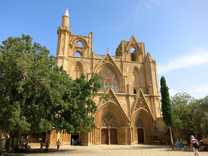 A church? A mosque! The Lusignan kings used to be crowned in the majestic St Nicholas church in Famagusta. The Ottomans turned it into a mosque in the 16th century. Not it is known as Lala Mustafa Pasha Mosque. © Gerrit Kurtz.